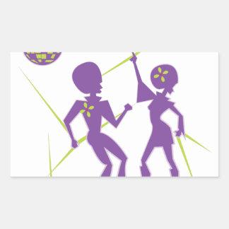 Disco Dance Rectangular Sticker