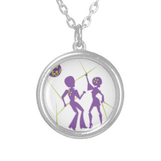 Disco Dance Silver Plated Necklace