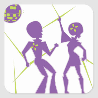 Disco Dance Square Sticker