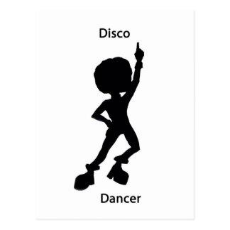 Disco dancer postcard