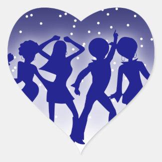 Disco Dancers Sticker (Heart)