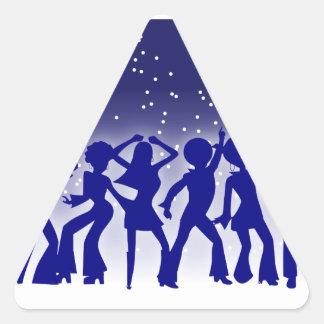 Disco Dancers Sticker (Triangle)