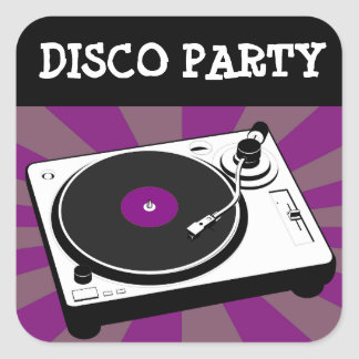 Disco Dancing 70s Themed  Birthday Party Stickers