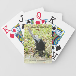 Disco dancing crow Playing Cards