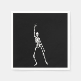 Disco Dancing Halloween Skeleton Napkin Disposable Serviettes