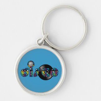Disco Dancing Mirrored Ball and Vinyl Record Key Ring