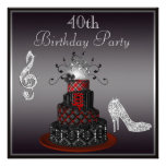 Disco Diva Cake, Silver Heels 40th Birthday