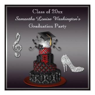 Disco Diva Cake, Silver Heels Graduation Party Card