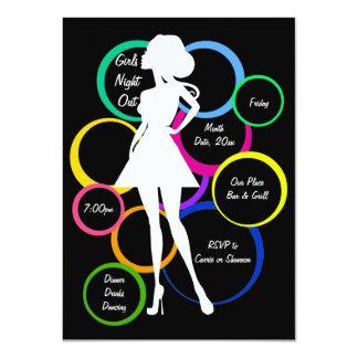 Disco Diva Girls Night Out 11 Cm X 16 Cm Invitation Card