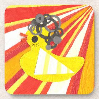 Disco Ducky Cork Coasters