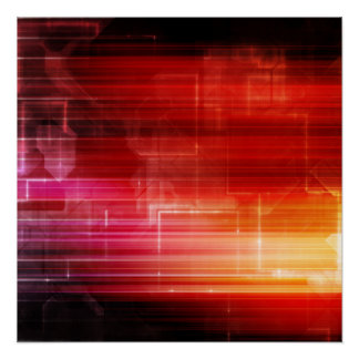 Disco Electronic Music Techno Party Background Art Poster