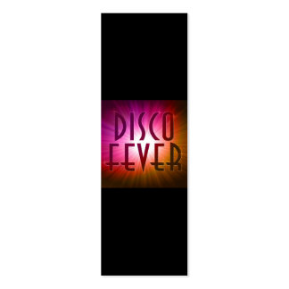 Disco Fever Bookmark Pack Of Skinny Business Cards