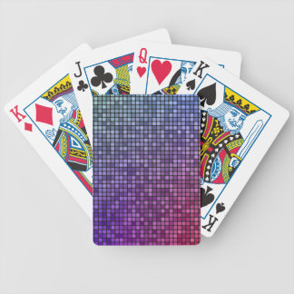 Disco fever pixel mosaic bicycle playing cards