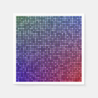 Disco fever pixel mosaic disposable napkin