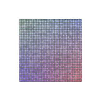 Disco fever pixel mosaic stone magnet