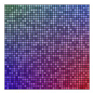 Disco fever pixel mosaic photo print