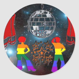 Disco Fever Round Sticker