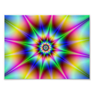 Disco Flash Holographic Optical Illusion Rainbow Poster