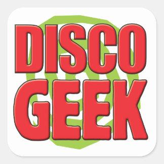Disco Geek Square Sticker