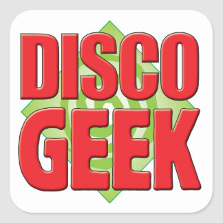 Disco Geek v2 Square Stickers