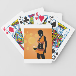 Disco girl bicycle playing cards