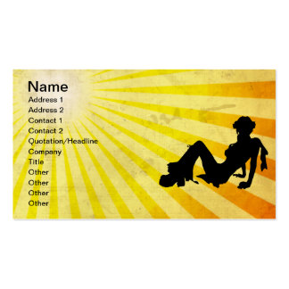 Disco Girl; yellow Pack Of Standard Business Cards