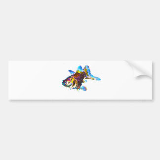 Disco Goldfish Bumper Sticker