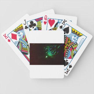 disco green burst at night bicycle playing cards