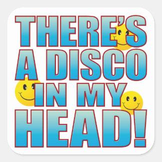 Disco Head Life B Square Sticker