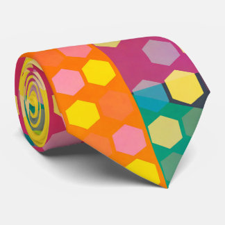 Disco hexagons tie