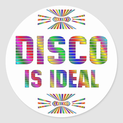 Disco is Ideal Round Stickers