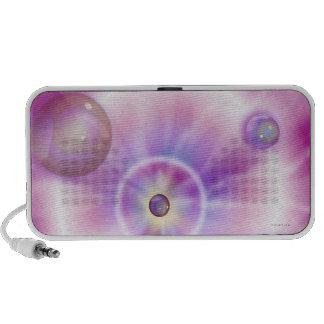 Disco Lava Light Pink Doodle Portable Speaker