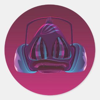 Disco monkey round sticker