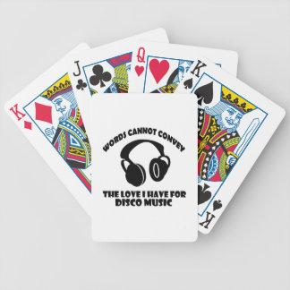 Disco Music designs Poker Deck