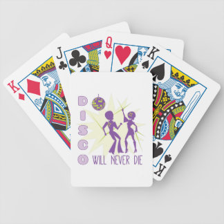 Disco Never Die Bicycle Playing Cards