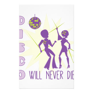 Disco Never Die Stationery