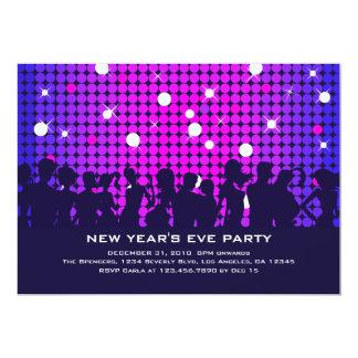 "Disco Night New Year Party Invitation 5"" X 7"" Invitation Card"