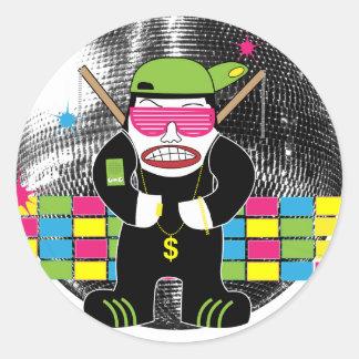 Disco Ninja Stickers (6 in pack)