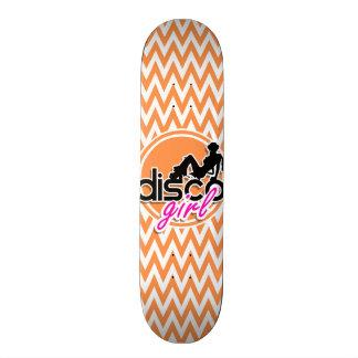 Disco Orange and White Chevron Skateboards