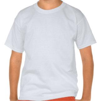 Disco Orange and White Chevron Tee Shirt