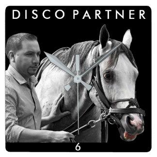 Disco Partner- NY Bred Square Wall Clock