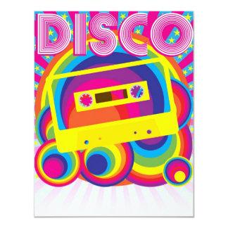 Disco Party 11 Cm X 14 Cm Invitation Card