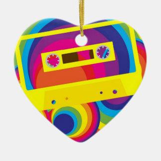 Disco Party Ceramic Heart Decoration