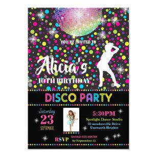 Disco Party Invitations Announcements Zazzle Au