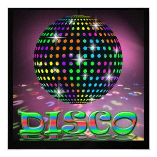 DISCO Party - SRF 5.25x5.25 Square Paper Invitation Card