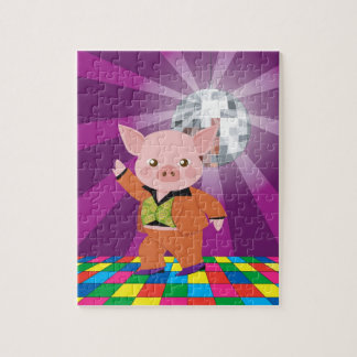 Disco pig on the dance floor puzzle