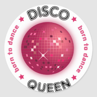 Disco Queen Round Sticker