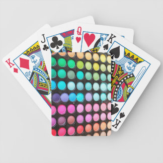 Disco Rainbow Makeup Palette Polka Dots Bicycle Playing Cards