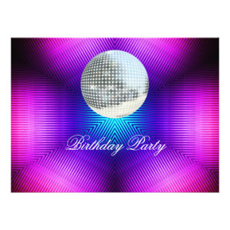 Disco Retro Birthday Party Invitation