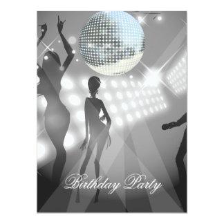 Disco Retro Birthday Party Invitation